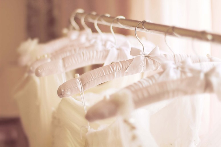 Wedding Gowns on Hangers