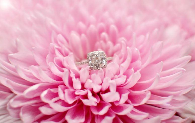 Engagement Ring in Pink Daisy | So This Is Love Wedding Blog