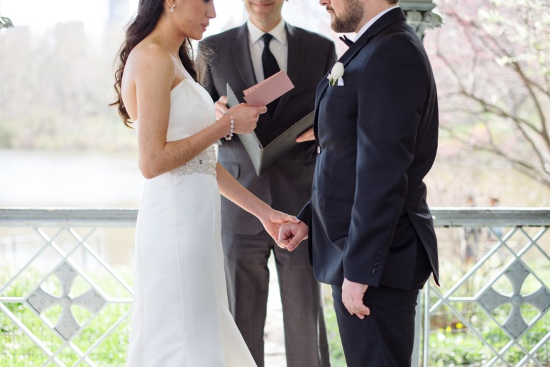 Wedding Vows in Outdoor Ceremony