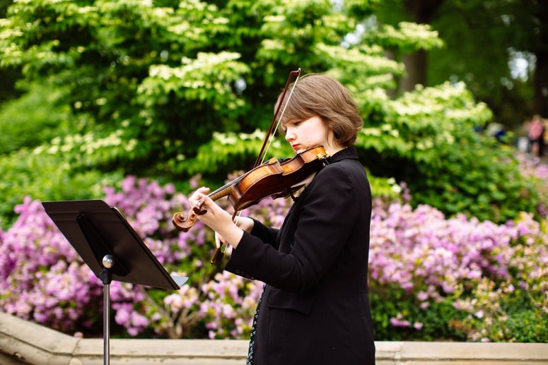 Violinist Playing at Pop UP Wedding in Central Park