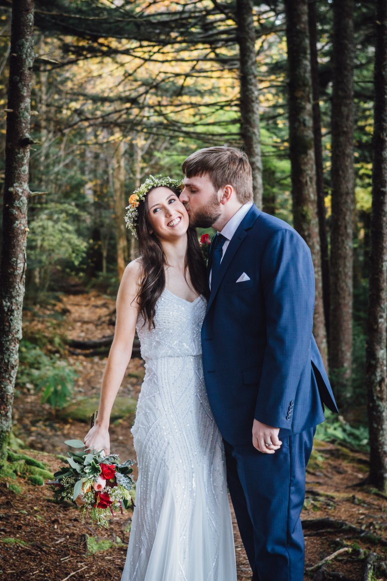 Boho Bridal Style with Floral Crown