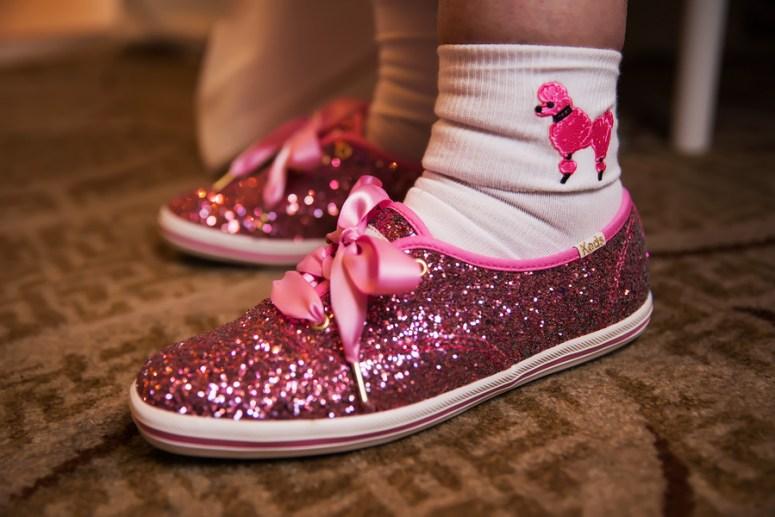 Hot Pink Glitter Keds