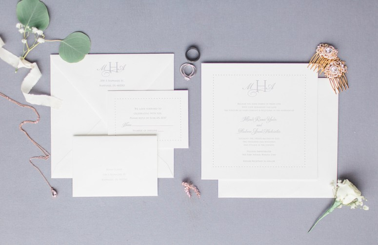 neutral shaded wedding invitations