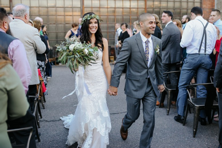 Bride and Groom Exit from Ceremony