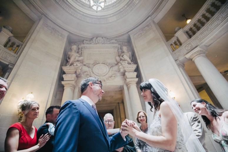 Bride and Groom in San Francisco City Hall Wedding