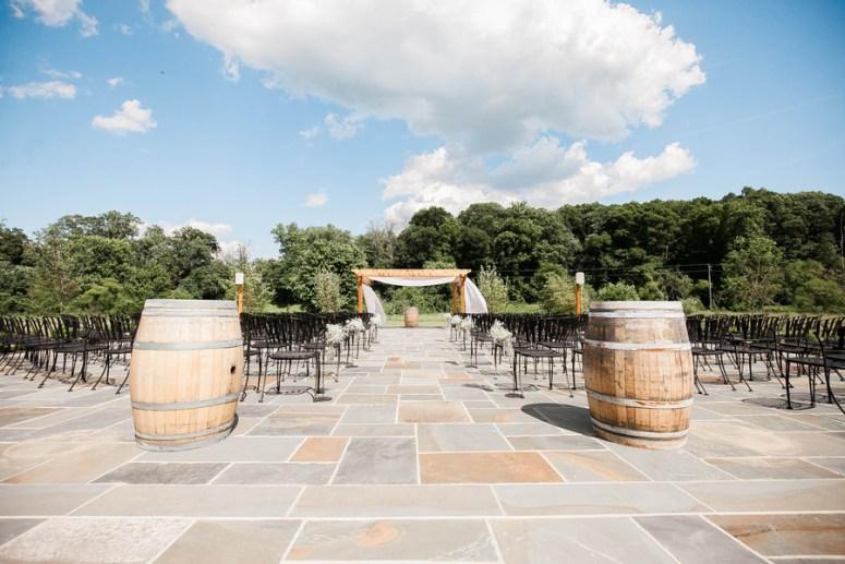 outdoor seating at barn wedding