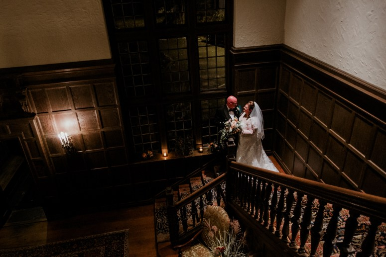 scottish bride and groom halloween wedding