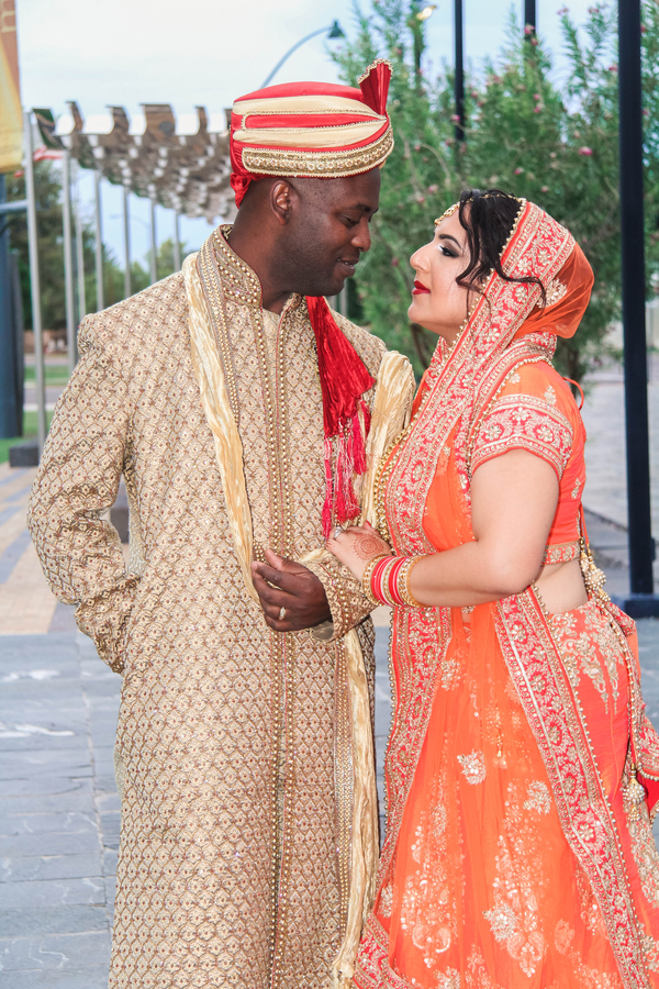 south asian wedding bride and groom