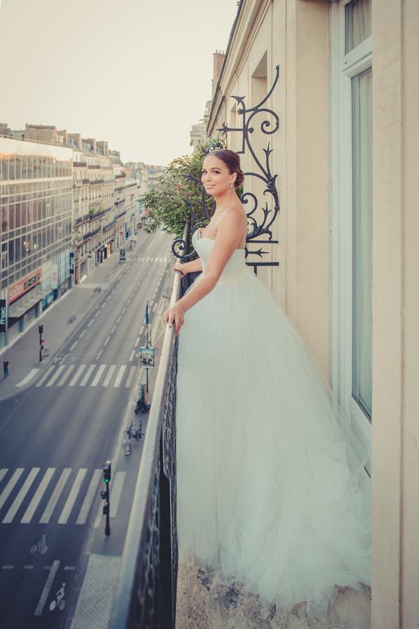 Bride on Patio in Paris
