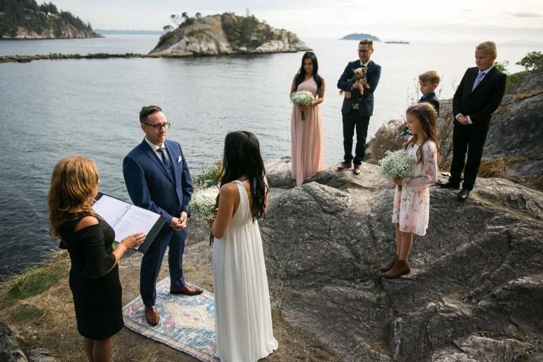 wedding in Whytecliff Park Canada