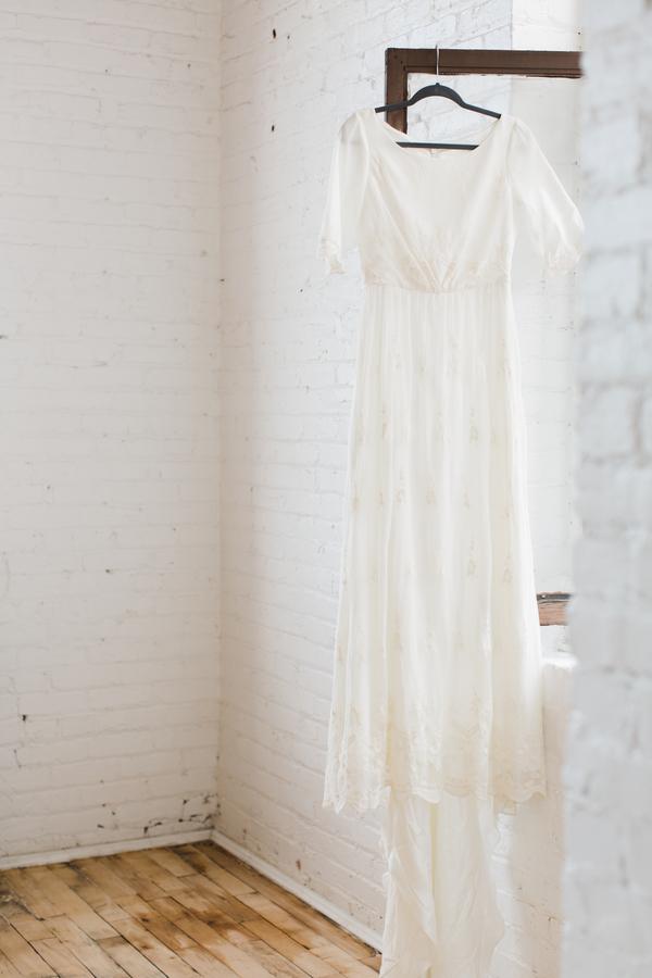 Boho Chic minimalist wedding gown