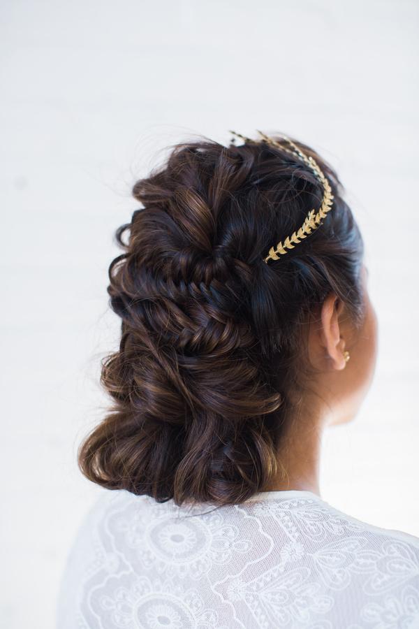 boho chic wedding day hairstyle