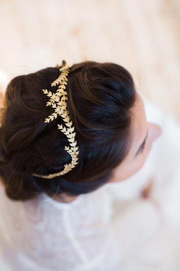 floral leaf wedding day headwear