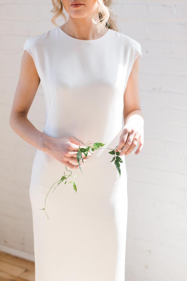 minimalist boho bridal dress