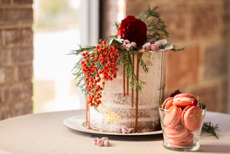 Drip style wedding cake