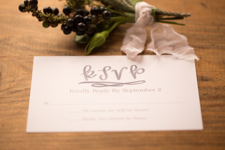 watercolor RSVP cards for wedding