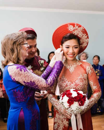 Multicultural Wedding Day Celebration with a Vietnamese Ceremony and A Western Ceremony
