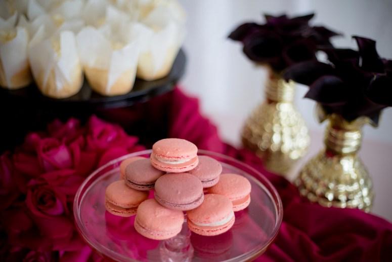 pink macaroons, pink macaroons at wedding, dessert station at wedding