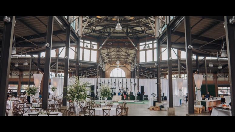 Detroit Wedding Reception, Eastern Market Corporation Wedding, All white wedding decor