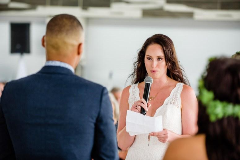 Bride Reciting Wedding Vows