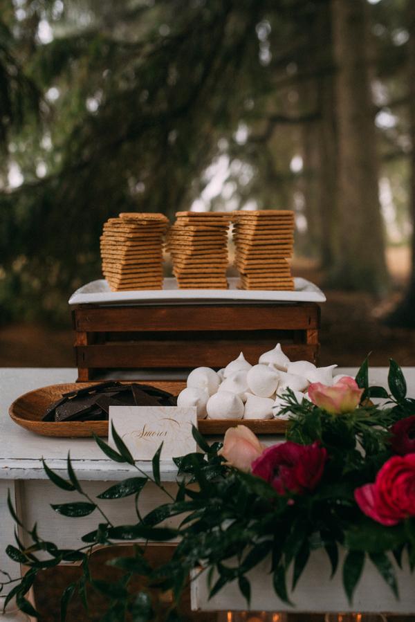 s'mores station, dessert station, winter wedding, Ontario Wedding Ideas