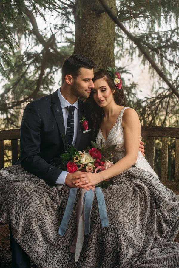 Winter Wedding Portraits, Ontario Wedding, Winter Wedding Ideas