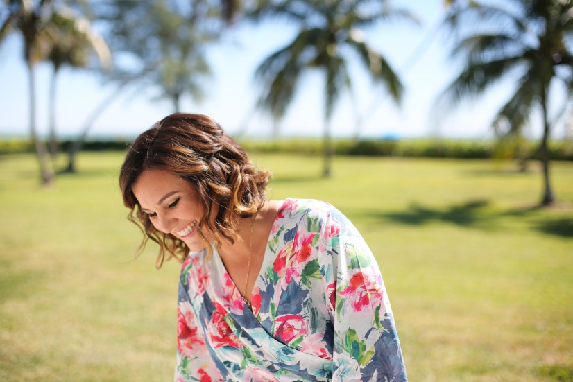 Tropical Floral Silk Robe