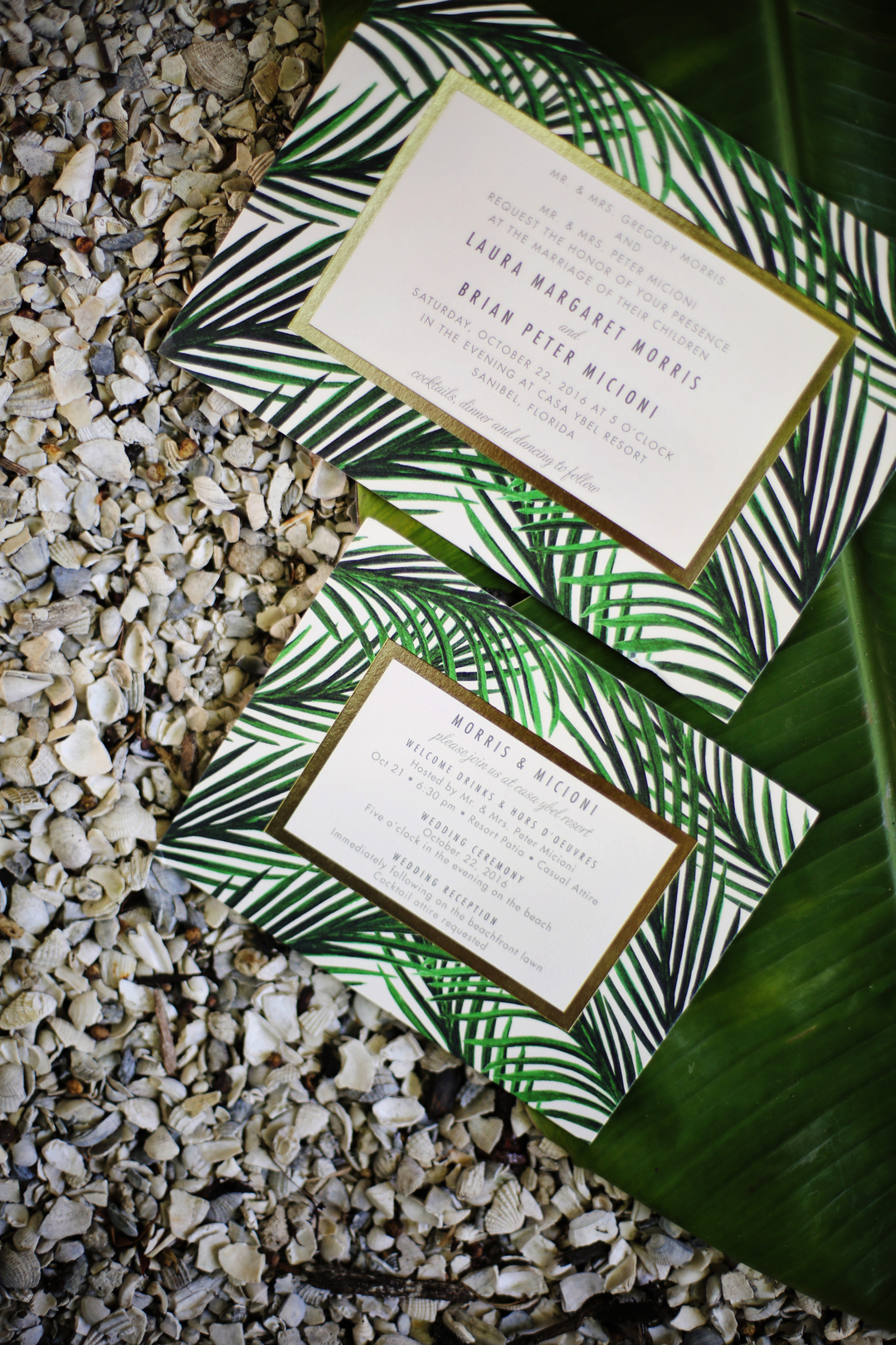 Tropical Themed Wedding Invitations