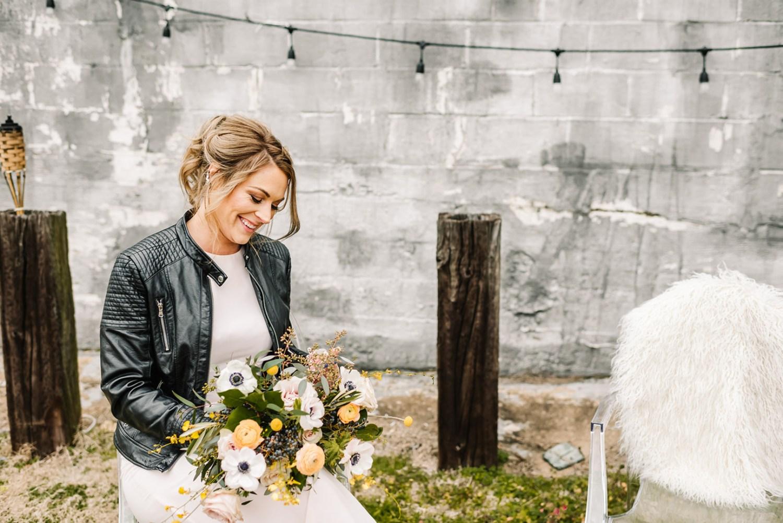 Loflin Yard Wedding, Memphis Wedding, Rock and Roll Bride, Modern Wedding, modern bridal portraits