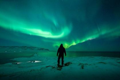 Northern lights at the Troll Peninsula.