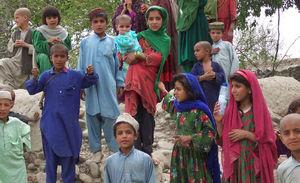 © Unknown - - Pasztuńskie dzieci z prowincji Host w górach na granicy afgańsko-pakistańskiej