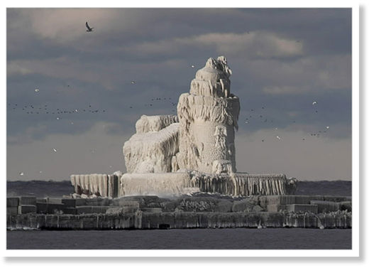 lighthouse ice
