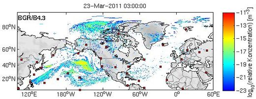 radiation dispersion map