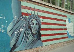 US embassy wall in Iran