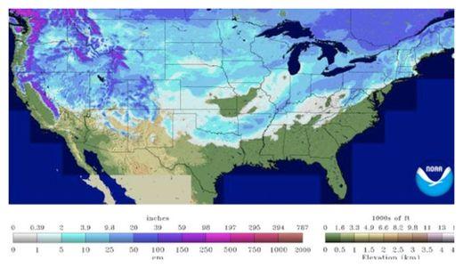 Nieve Cubierta EE.UU.