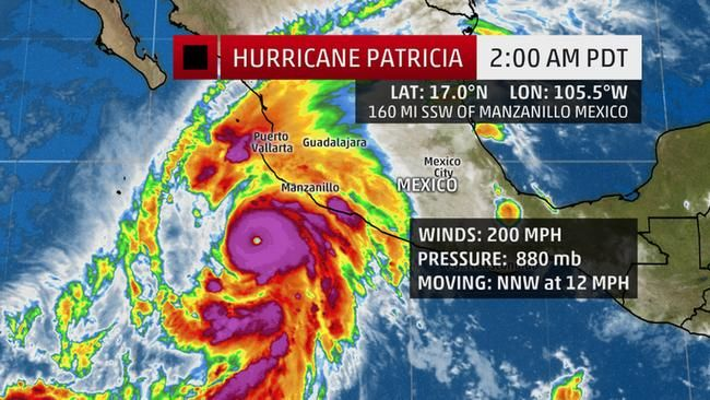 Hurricane Patricia Becomes Strongest Hurricane Ever