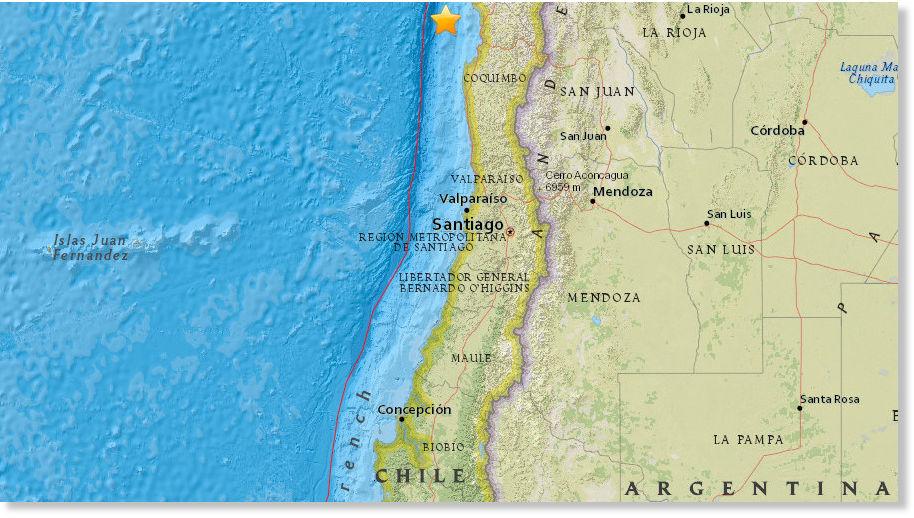 September 2015 Chile Earthquake Epicenter