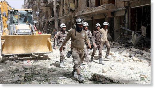 Znalezione obrazy dla zapytania biale helmy w syrii zdjecia