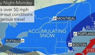 HD Decor Images » Blizzard conditions  feet of snow forecast to bring New England to a     WEATHER MAP