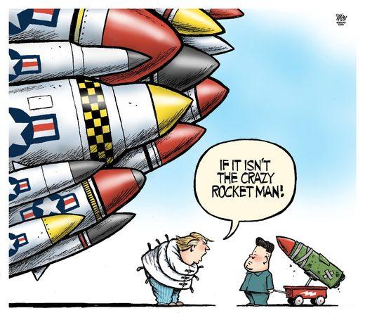 Little Rocket Man Trump Rebrands Kim Jong Un Warns