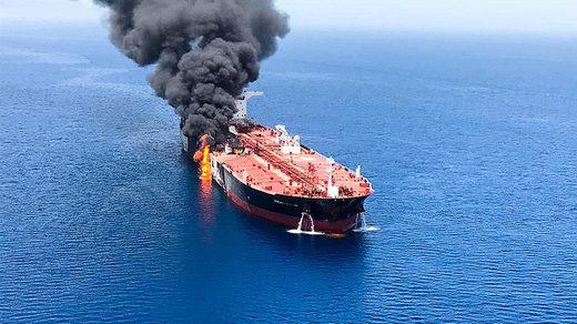 tanker oman fire
