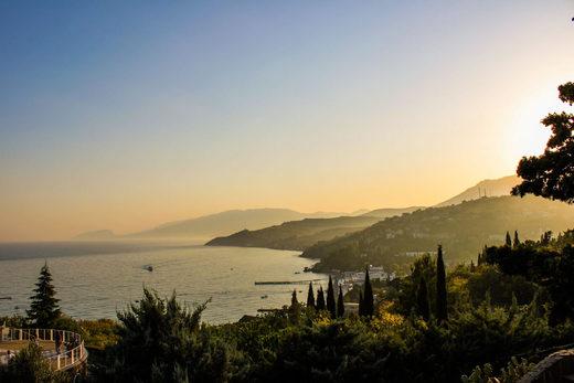 Crimea bay Malorichenske