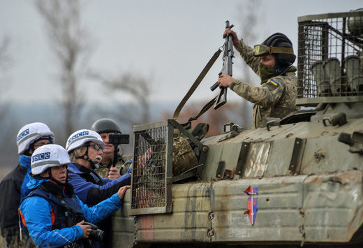ukraine soldier OSCE monitors