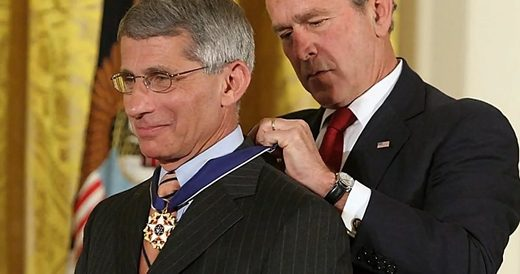 Bush jr Fauci medalha de liberdade