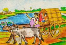 গ্রাম বাংলার গরুর গাড়ি, কুমোর পাড়ার গরুর গাড়ি, গরুর গাড়ির চাকা, আমার গরুর গাড়ি