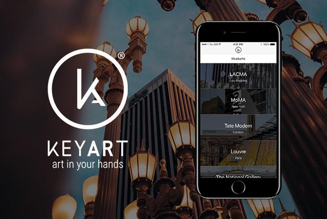 Immagine e logo di KeyArt app per visitare musei