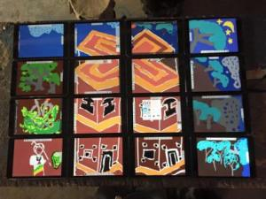 Dessin collectif à Lalibela, © Soavina Ramaroson
