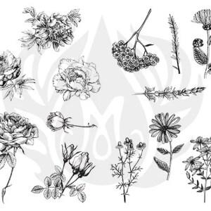 Tela para Silk Screen – Flores