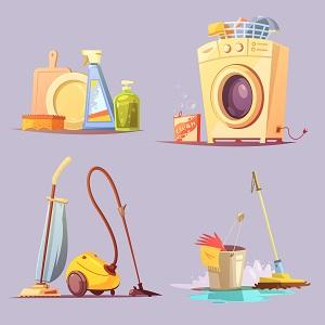 الغسل والتنظيف