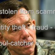 Lt. Gen. William B. Caldwell (Retired) image abused by Scammers